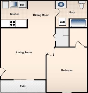 1 Bed / 1 Bath / 850 ft² / Deposit: $300 / Rent: $595