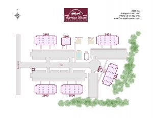 Carriage House site map